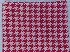 NEW & HTF Quilter's Showcase Modern HOT PINK & WHITE HOUNDSTOOTH *100% Cotton*