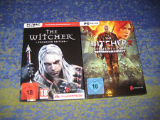 The Witcher 1 + 2 PC heute schon KULT Rarität USK 18 kpl. DEUTSch in DVD HÜLLE