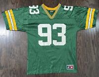 Vintage Green Bay Packers NFL Football Jersey #93 Gilbert Brown Mens Size Medium