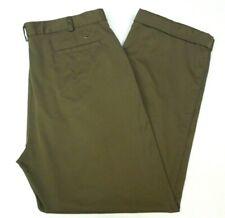 Nike Golf Dri Fit Size 38 x 32 Khaki Pleated Front Athletic Dress Golf Pants