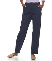 Croft & Barrow Relaxed Twill Women's Pants
