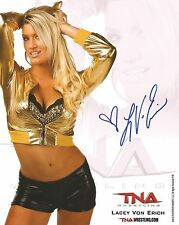 LACEY VON ERICH AUTOGRAPHED 8X10 PHOTO WWE W/PROOF