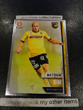 2015/16 TAP N PLAY A-LEAGUE SILVER CARD NO.87 MATTHEW SIM