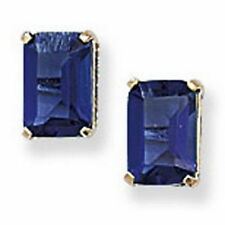 Butterfly Yellow Gold Plated Sapphire Fashion Earrings