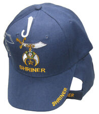 Shriner Emblem Navy Blue With Shadow Embroidered Cap