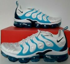 Nike Vapormax Plus Mens Sz 11.5 924453 104 White Blue Force Fury Running MAX NEW