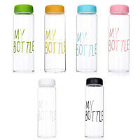 MY BOTTLE Clear Fruit Juice Water Drinking Cup Sports Travel Camp Bottle