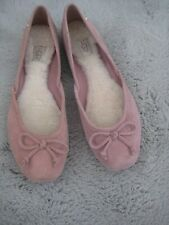 UGG SUEDE LADIES BALLET SLIPPERS/SHOES SIZE UK 5