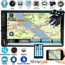 7inch Touch Screen HD Double 2Din Bluetooth Car Stereo Radio MP5 Player w/Camera