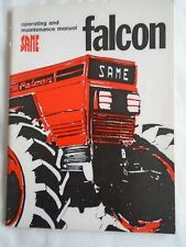 Same Falcon Tractor Operating & Maintenance handbook Apr 1976  English text