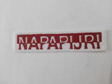 Parche bordado para coser estilo Napapijri 10,5/2 cm adorno ropa personalizada