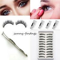 2/4/8/12/16 /20pcs 3D Magnetic False Eyelashes Eye Lashes Extension & Tweezer