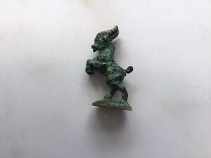 Messing Figur Ziege 46 mm hoch