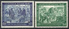 Germany Allied Occupation 1948 MNH UK USA Soviet Leipzig Fair Mi 967/8 SG 953/4