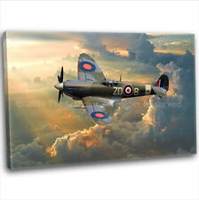 More details for raf ww2 military spitfire canvas print framed digital painting art picture (3)