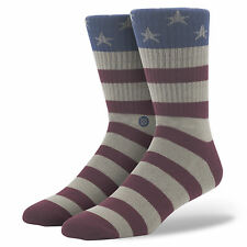 STANCE MENS THE FOURTH SOCKS.AMERICAN USA FLAG ARCH SUPPORT LARGE UK 8.5 - 11.5