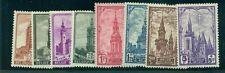 BELGIUM #B256-63 Complete set, Semi postals, og, NH, VF, Scott $65.00