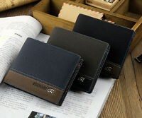 Men's Leather Bifold ID Card Holder Purse Wallet Billfold Handbag Slim Clutch