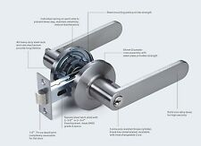 Entrance Lever Handle & Lock  Heavy Duty 9888 (Satin Chrom)
