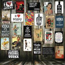Vodka Cocktail Colourful Metal Dangler Mini Hanging Sign,
