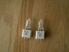 2 Ge Ela Projector Bulb/Lamps 65 Watts 19V Quartzline New-Old Stock
