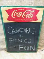 Vintage 1961 Coca-Cola Menu Chalk Board Sign > Antique Coke Soda 9632