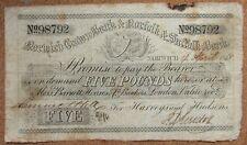 More details for £5 1868 norwich crown bank & norfolk & suffolk bank for harveys and hudsons