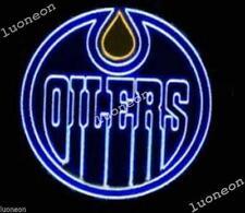 New EDMONTON OILERS Hockey NHL Real Neon Sign Beer Bar Pub Light FREE SHIPPING