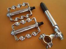 Twisted Chrome Lowrider Bicycle STEM(gooseneck) PEDALS 20-26