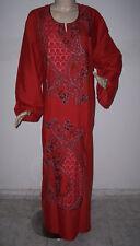 Plus Size Cotton Embroidered Women Kaftan Caftan Jilbab Arabic Dress Abaya #PS2