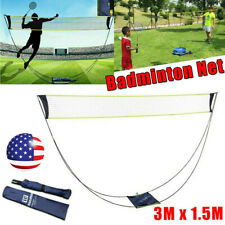 10 Ft Volleyball Tennis Net Set with Stand Frame Carry Bag Portable Badminton