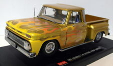 Sunstar 1/18 Scale Diecast - 1393 Chevrolet C-10 Stepside pick-up lowrider Gold