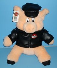 Harley Davidson Leather Jacket Hat Motor Cycles Official Licensed Plush Pig 1993
