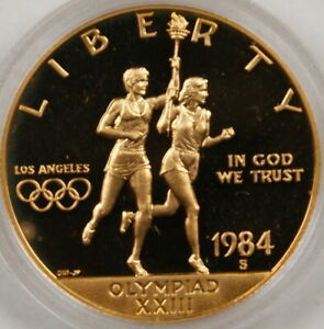 1984 S PROOF US Olympic Ten Dollar $10  Gold Commemorative Coin Mint Packaging!