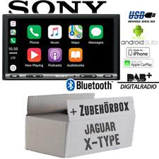 Jaguar X-Type 2DIN Bluetooth DAB+ Apple CarPlay Android Auto USB Einbauset PKW