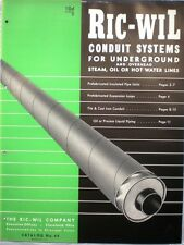 Ric-Wil Pipe Insulation System Catalog ASBESTOS Calk Felt 1945 Patent Numbers!!
