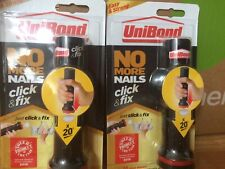 """UniBond No More Nails Click&Fix, Easy-to-Use Instant Grab Adhesive, X2 """" SALE """""""