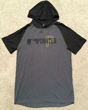 Mens Pittsburgh PIRATES Majestic Authentic Collection S/S Hooded T-SHIRT sz L