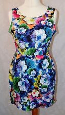 ZACK House Of Fraser  Size 12 Gorgeous Multicolored Floral Dress NEW WITH TAGS