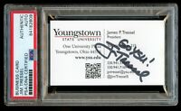 James Jim Tressel signed autograph Youngstown State President Business Card PSA
