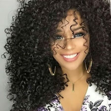 Women Black Short Wavy Wig Afro Natural Kinky Curly Hair Wigs Fashion
