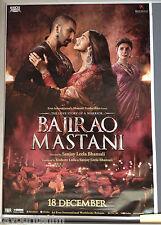 Cinema Poster: BAJIRAO MASTANI 2015 (V2 One Sheet) Priyanka Chopra Ranveer Singh