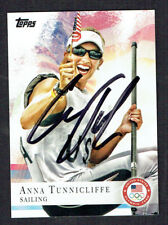 Anna Tunnicliffe #58 signed autograph auto 2012 Topps U.S. Olympic Team Card