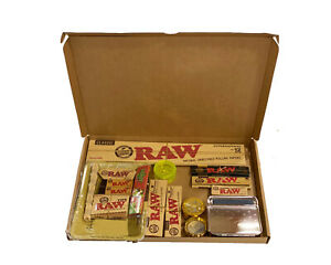 Raw Tray Kit Gift Set Classic Organic Hemp ,tips UK STOCK - Raw Gift Box
