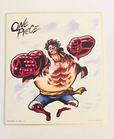 Onepiece signed picture board manga art anime Japan autograph Monkey D. Luffy