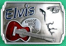"Belt Buckle ""King of Rock"" 3.8cm Wide Belt, Custom Made, DIY, Metal Casting."