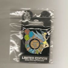 Disney Cast Member Exclusive Happy New Year 2010 Tinkerbell Spiner Pin