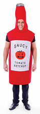 Unisex Tomato Ketchup Bottle Fancy Dress Costume Red Sauce Food Fun Outfit New