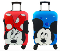 Minnie Mickey Travel Case Luggage Suitcase Protective Cover Dust Proof Carrier