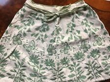 Monsoon Girls Embroided White/green Floral Skirt 10/12 Yrs